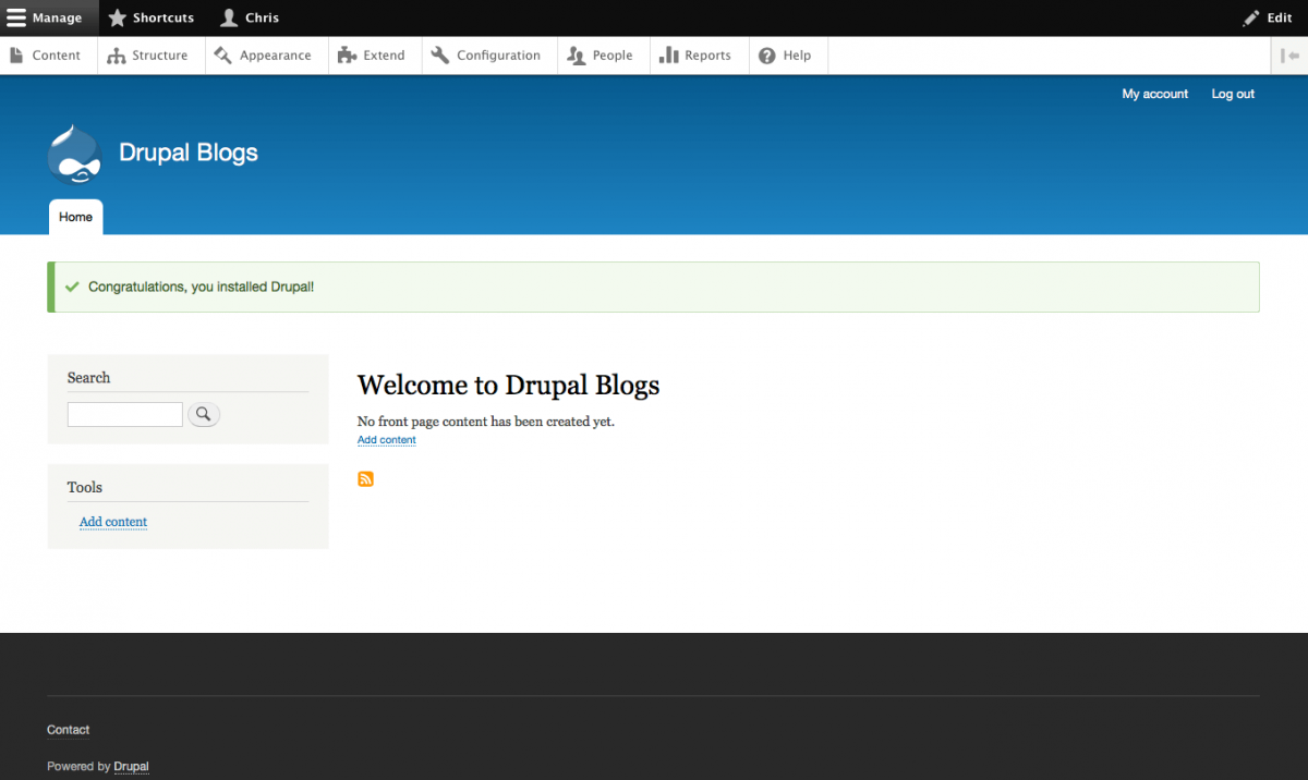 Drupal 8 getting started install composer facebook login drupal 8 post install landing page baditri Images
