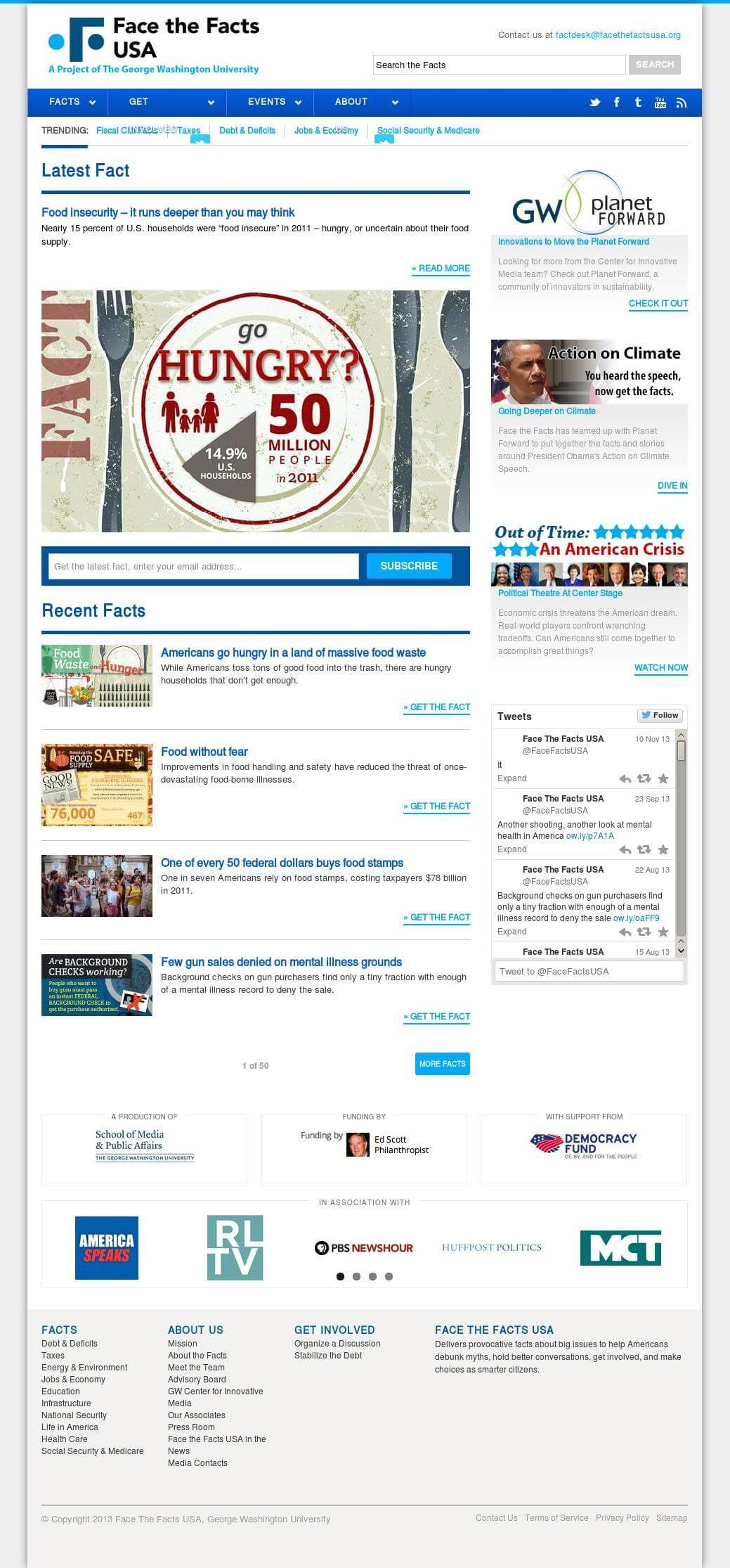 FaceTheFactsUSA Design in Drupal