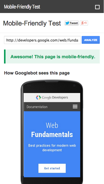 Mobile-Friendly Drupal Site Test Tool by Google