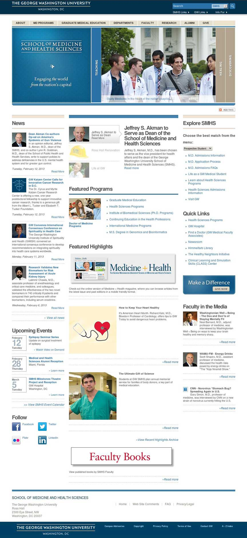 SMHS Homepage Design in Drupal