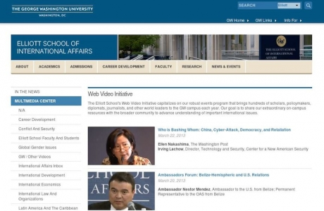Web Video Initiative Homepage in Drupal, ESIA
