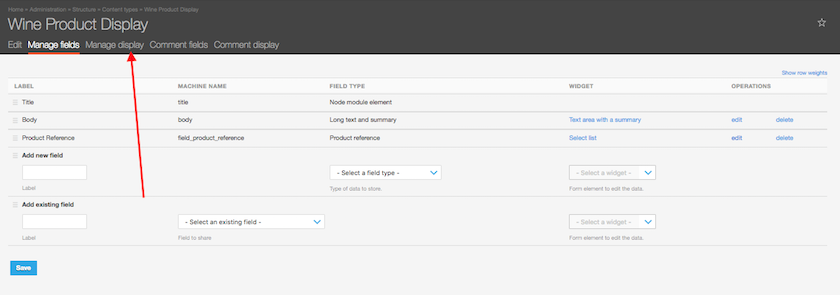Drupal Commerce, Product Display Content Type: Manage Display settings