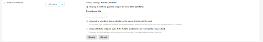 Drupal Commerce Add to Cart settings
